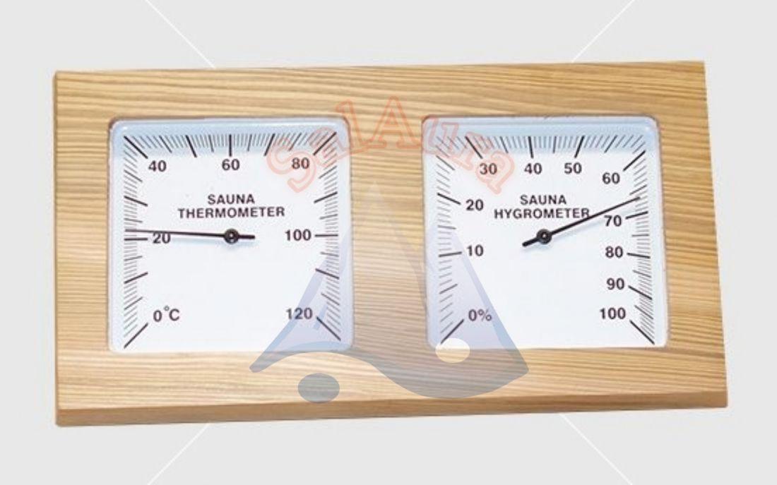 Cédrus hőmérő-páramérő 2.0 fekvő kivitelben
